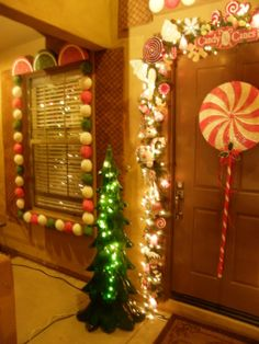 Gingerbread House - Holiday Designs - Decorating Ideas - HGTV Rate My Space Gingerbread House Parties, Gingerbread Decorations, Christmas Gingerbread House, Christmas Yard, Office Christmas, Outdoor Christmas Decorations, Pink Christmas, Christmas Themes, Christmas Lights