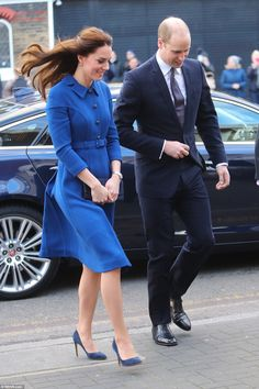 The Duke and Duchess of Cambridge as visit the Child Bereavement UK centre in London on their first joint engagement of 2017