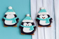 Cute and Simple Penguin Cookies | The Bearfoot Baker
