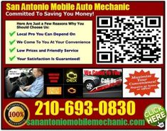 Mobile Mechanic Castroville TX Auto Car Repair Service tech that comes to fix your car at home or pre purchase used foreign vehicle inspection review call