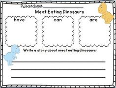 Dinosaurs Research Writing Mini Unit for k-2~ TWO freebies in the download preview!  This mini unit has been updated-much cuter!!!!  YAY! :o)