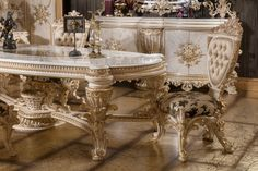 Dining Set, Dining Table, Luxury Dining Room, Luxury Sofa, Victorian Fashion, Villa, Furniture, Home Decor, Dinning Set