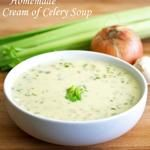 Sep 2019 - This homemade cream of celery soup recipe is the ultimate in flavor! Delicious as a stand-alone soup or used in place of store-bought canned condensed soup. Cheesy Potato Soup, Cheesy Potatoes, Bacon Soup, Vegetarian Recipes, Cooking Recipes, Healthy Recipes, Healthy Soups, Savoury Recipes, Top Recipes