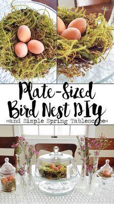 Bird Nest DIY | Simple Spring Tablescape | Hobnail House