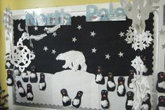North Pole Scene Display, classroom display, class display, Places, penguin, polar bear, ice, cold, freezing, Early Years (EYFS), KS1&KS2 Primary Resources