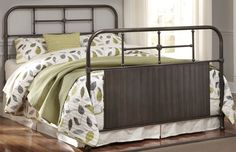 Nashburg Brushed Pewter Bed