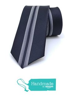 "Black, grey striped men's tie 6 cm (2,36"") SL-152 from Nazo Design… #handmadeatamazon #nazodesign"