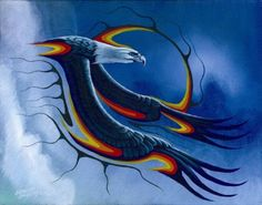 The Messenger Donna Native American Paintings, Native American Artists, Indian Paintings, Abstract Paintings, Art Paintings, Eagle Painting, Feather Painting, Navajo Art, Eagle Pictures