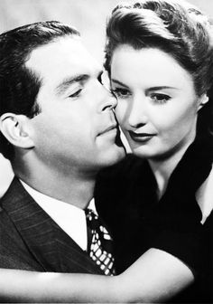 Barbara Stanwyck and Fred MacMurray for Remember the Night (1940).