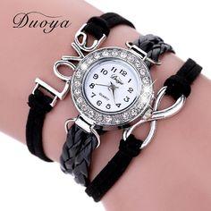>> Click to Buy << Dressflow Brand Watch Women Luxury Gold Eye Gemstone Dress Watches Women Gold Bracelet Watch Female Leather Quartz Wristwatches #Affiliate