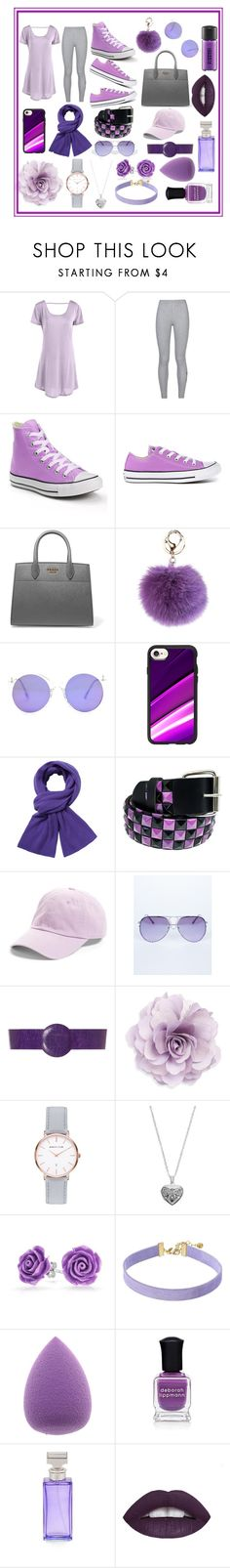 """""""Purple and Grey"""" by soccerlove33 ❤ liked on Polyvore featuring NIKE, Converse, Prada, Casetify, Portolano, Faddism, American Needle, BY. Bonnie Young, Cara and Abbott Lyon"""