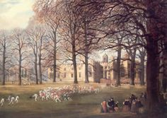 E. Harwood, Football at Rugby School, 1859. Rugby, Rugby School