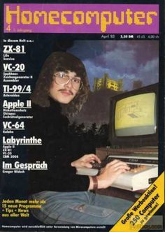 Cover of a German computer magazine from the 80s