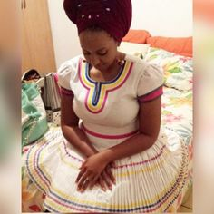afrikanische hochzeiten The bride The bride African Wedding Dress, African Print Dresses, African Fashion Dresses, African Dress, African Clothes, African Lace, Sepedi Traditional Dresses, South African Traditional Dresses, African Attire