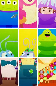 The Magic of Pixar. So cute, but weirdly formatted. Toy Story•2, Monsters Inc., Bugs Life•3 and Up•3