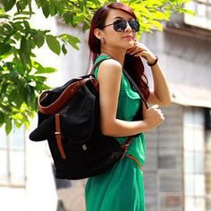 2013 High quality female pure cotton canvas backpack fine shoulders bag multipurpose rucksack travel bag -- Find out more about the great product at the image link.(This is an Amazon affiliate link)