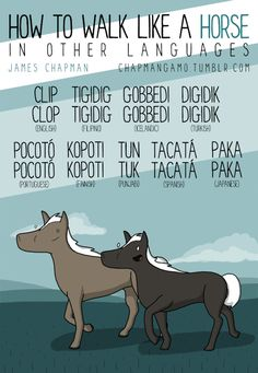 how to walk like a horse in other languages