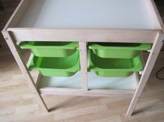 Changing table to chest of drawers - IKEA Hackers - IKEA Hackers - How handy to have those pull outs for diapers, wipes, onesies!!!! Awesome addition... I honestly think Ikea should make their changing table just like this.