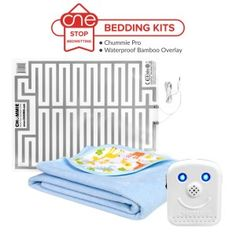 One Stop Bedwetting - Chummie Pro Bedding Kit in Blue - Bamboo Overlay Full Size Mattress, Mattress Pad, Bedwetting Alarm, Perfect Money, Bed Wetting, Night Light, Overlays, Bamboo, Bedding