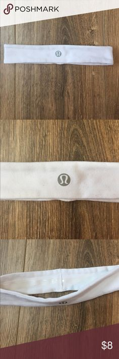 Lululemon 1 in Headband - no slip Lululemon 1 in Headband - no slip white solid color  New condition- never been worn lululemon athletica Accessories Hair Accessories