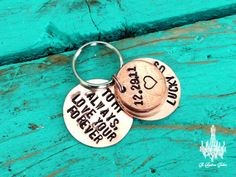 Custom Groom's Gift from the Bride! Keychain