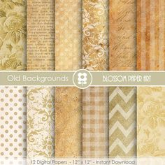Digital Paper - Old Papers - Digital Scrapbooking Paper - INSTANT DOWNLOAD - Decoupage - Digital Paper - Printable - 1648