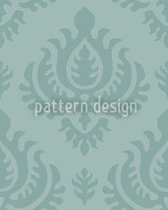 Aqua Baroque by Martina Stadler available as a vector file on patterndesigns.com Baroque Pattern, Surface Pattern Design, Vector Pattern, Vector File, Aqua, Green, Artwork, Patterns, Printables