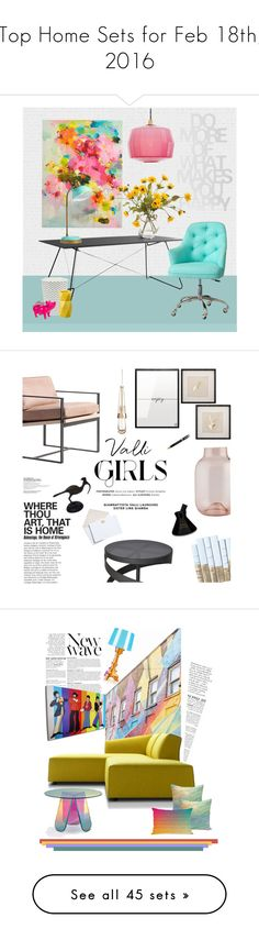 """""""Top Home Sets for Feb 18th, 2016"""" by polyvore ❤ liked on Polyvore featuring interior, interiors, interior design, home, home decor, interior decorating, OK Design, PBteen, Token and John-Richard"""