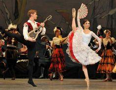 "Evgenia Obraztsova and Alexei Timofeyev in ""Don Quixote"" /Kitri and Basil /Mariinsky Ballet / photo by Dave Morgan."