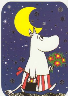 Postcard with Moomin Mamma