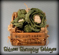 Harry Potter Chinese Chomping Cabbages -  12th scale dollhouse miniature