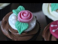 Miniature Fondant Roses in Minutes: Rolled Perfectly for Cupcakes, Cookies + ! - YouTube