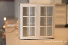 Paper Doll Miniatures: Step By Step Upper Kitchen Cabinets