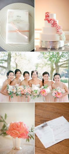 peach pink bridesmaids dresses