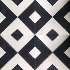 handmade cement encaustic tiles: classic black white & grey image gallery