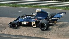 Francois Cevert in his Tyrrell-Ford 006 at the German Grand Prix 1973