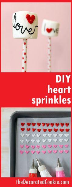 DIY heart sprinkles for Valentine's Day