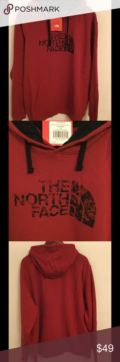 NWT The North Face Men's Pullover hoodie XXL Brand new with tag, The North Face Men's 80/20 Pullover hoodie in rhubarb red color, size XXL.   Price is firm. No trades The North Face Sweaters