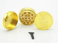 1PC Mini 40mm 50mm 3-4 Layers Metal Zinc Alloy Gold Coin Shape #Herb Crusher #Smoking Herbal Spice Pollen Muller Tobacco Grinder