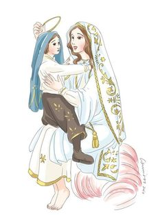 Catholic Religion, Catholic Art, Religious Art, Blessed Mother Mary, Blessed Virgin Mary, Catholic Wallpaper, Jesus Cartoon, Jesus Is Life, Christian Pictures