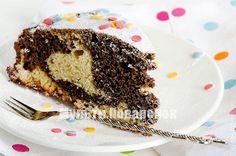 Мраморный кекс с черным шоколадом в мультиварке Декс