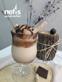 Chocolate Coffee, Milkshake, Coffee Drinks, Beautiful Cakes, Smoothies, Bakery, Food And Drink, Cooking Recipes, Pudding