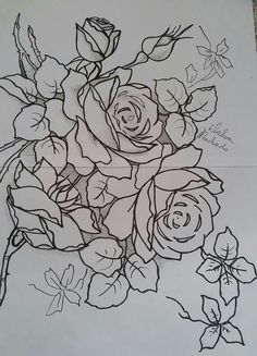 Fabric Painting, Painting & Drawing, Line Drawing, Drawing Sketches, Embroidery Stitches, Embroidery Designs, Interesting Drawings, Fabric Paint Designs, One Stroke Painting