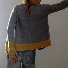 Audrey Cardigan by Isabell Kraemer $7 on Ravelry. Top-down, one-piece, shaping, faux seams. Longer sleeves with thumb openings optional. GORGEOUS!