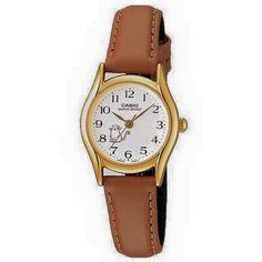 couro marrom quartzo relógio Casio feminino com mostrador branco Casio Vintage Watch, Vintage Watches, Casio Watch, Brown Leather Strap Watch, Leather Watch Bands, Casio Quartz, Hand Watch, Quartz Watch, Watches For Men