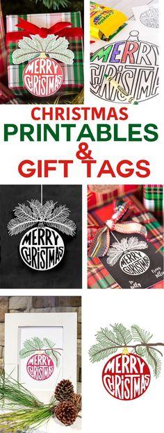 FREE Printable Christmas printables and gift tags to download and use for the holidays. via @InMyOwnStyle