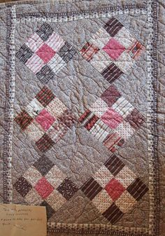 19th c. doll quilt full view