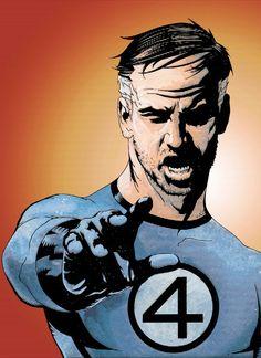 Fantastic by Jae Lee Marvel Comics Art, Marvel Heroes, Marvel Dc, Fantastic Four Marvel, Mister Fantastic, Comic Book Artists, Comic Books Art, Comic Art, The Sinister Six