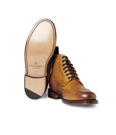 Grenson - Sharp Leather Brogue Boots