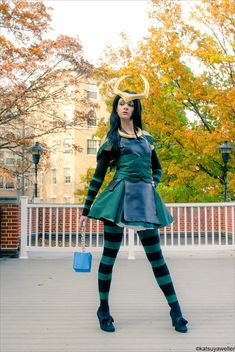 Lolita Loki from Marvel's The Avengers. This was a very fun little costume that I made for fun at AnimeUSA last year. The black dress . Loki Dress, Loki Cosplay, Disneybound, Cool Costumes, Dc Comics, Harajuku, Avengers, Inspired Outfits, Mom